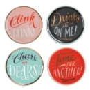 Ladyfingers Letterpress High Five Porcelain Coaster Set - Book