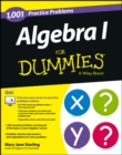 1001 Algebra I Practice Problems For Dummies - Book