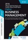 Higher Business Management 2016-17 SQA Past Papers with Answers - Book