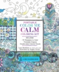 Portable Color Me Calm Coloring Kit : Includes Book, Colored Pencils and Twistable Crayons - Book