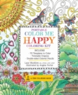 Portable Color Me Happy Coloring Kit : Includes Book, Colored Pencils and Twistable Crayons - Book