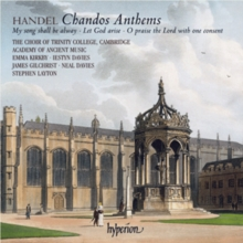 Handel: Chandos Anthems, CD / Album
