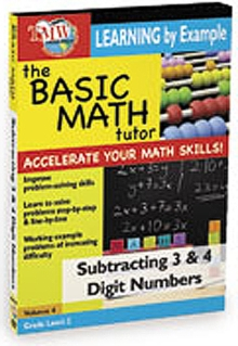 The Basic Math Tutor: Subtracting 3 and 4 Digit Numbers, DVD