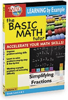 The Basic Math Tutor: Simplifying Fractions, DVD