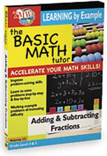 The Basic Math Tutor: Adding and Subtracting Fractions, DVD DVD