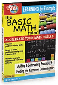 The Basic Math Tutor: Adding and Subtracting Fractions And..., DVD
