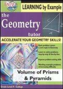 Geometry Tutor: Volume of Prisms and Pyramids, DVD