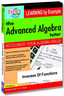 The Advanced Algebra Tutor: Inverses of Functions, DVD DVD