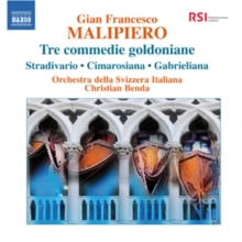 Gian Francesco Malipiero: Tre Commedie Goldoniane, CD / Album Cd