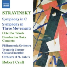 Stravinsky: Symphony in C/Symphony in Three Movements/..., CD / Album Cd