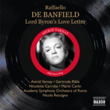 Raffaello De Banfield: Lord Byron's Love Letter, CD / Album