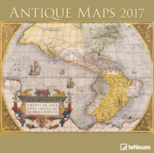 2017 ANTIQUE MAPS 30 X 30 GRID CALENDAR,