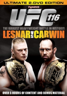 Ultimate Fighting Championship: 116 - Lesnar Vs Carwin, DVD