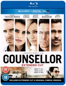 The Counsellor, Blu-ray
