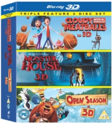Cloudy With a Chance of Meatballs/Monster House/Open Season, Blu-ray