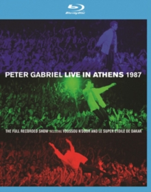 Peter Gabriel: Live in Athens 1987, Blu-ray BluRay