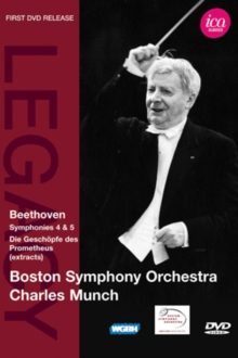 Charles Munch: Beethoven Symphonies 4 and 5 (Boston Symph.Orch.), DVD  DVD