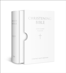 The Holy Bible: King James Version (KJV) White Compact Christening Edition, Leather / fine binding