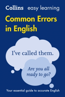 Collins Common Errors in English, Paperback Book