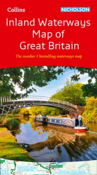 Collins Nicholson Inland Waterways Map of Great Britain, Sheet map, folded