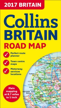 2017 Collins Map of Britain, Sheet map, folded