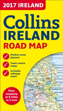 2017 Collins Map of Ireland, Sheet map, folded