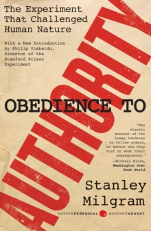 Obedience to Authority : An Experimental View, Paperback