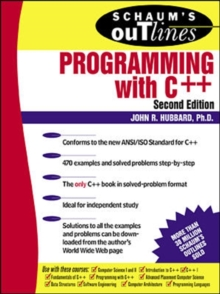 Schaum's Outline of Programming with C++, Paperback Book