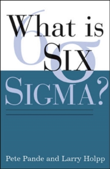 What is Six Sigma?, Paperback Book