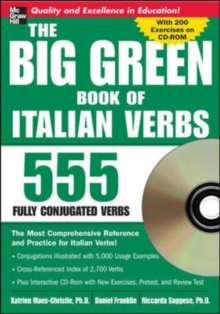 Big Green Book of Italian Verbs : 555 Fully Conjugated Verbs, Mixed media product