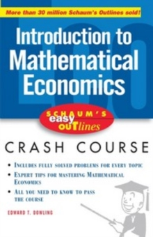 Image of Schaum's Easy Outline of Introduction to Mathematical Economics