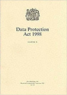 Data Protection Act, 1998, Paperback Book