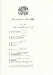 Human Rights Act, 1998, Paperback