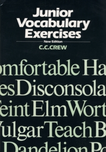 Junior Vocabulary Exercises, Paperback Book