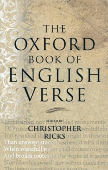 The Oxford Book of English Verse, Hardback