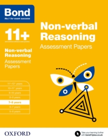 Bond 11+: Non Verbal Reasoning: Assessment Papers : 7-8 Years, Paperback