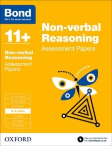Bond 11+: Non Verbal Reasoning: Assessment Papers : 8-9 Years, Paperback Book