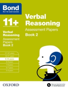 Bond 11+: Verbal Reasoning: Assessment Papers : 9-10 Years Book 2, Paperback