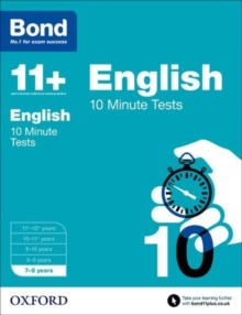 Bond 11+: English: 10 Minute Tests : 7-8 Years, Paperback