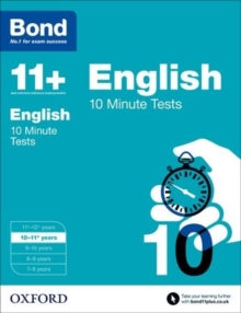 Bond 11+: English: 10 Minute Tests : 10-11 Years, Paperback