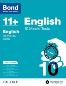 Bond 11+: English: 10 Minute Tests : 11-12 Years, Paperback
