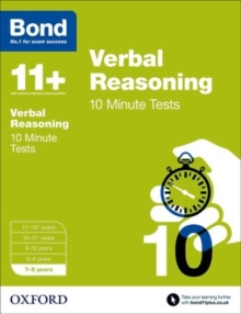 Bond 11+: Verbal Reasoning: 10 Minute Tests : 7-8 Years, Paperback