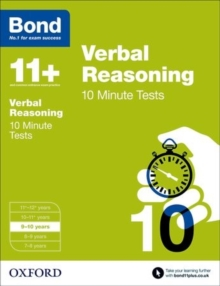 Bond 11+: Verbal Reasoning: 10 Minute Tests : 9-10 Years, Paperback