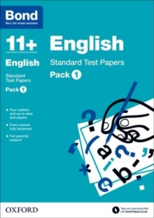 Bond 11 +: English: Standard Test Papers : 9-11 Years Pack 1, Paperback
