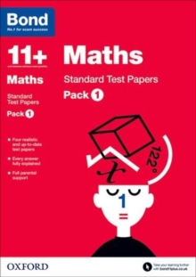 Bond 11+: Maths: Standard Test Papers : Pack 1, Paperback
