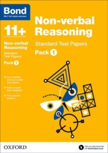 Bond 11+: Non Verbal Reasoning: Standard Test Papers : Pack 1, Paperback