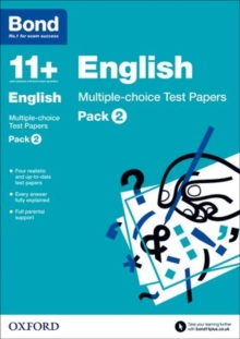 Bond 11+: English: Multiple-Choice Test Papers : 9-11 Years Pack 2, Paperback