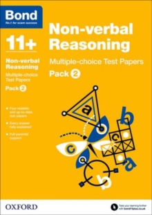Bond 11+: Non Verbal Reasoning: Multiple Choice Test Papers : Pack 2, Paperback