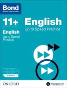 Bond 11+: English: Up to Speed Papers : 8-9 Years, Paperback