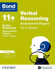 Bond 11+: Verbal Reasoning: Up to Speed Papers : 10-11 Years, Paperback Book